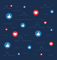 likes and loves symbols social sites concept vector image