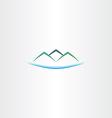 sea and mountains island logo icon vector image