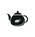 Tea Icons Set on White Background vector image