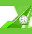 volleyball abstract background vector image
