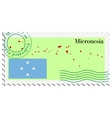 mail to-from Micronesia vector image vector image