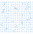 Baby Boy Bunny Pattern vector image