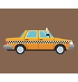 taxi car side view brown background vector image