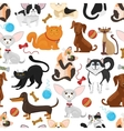 Pet background Dogs and cats seamless vector image vector image