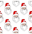 Santa Claus seamless pattern background vector image vector image