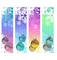 Four abstract vertical winter banners with balls vector image