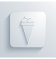 modern ice cream light icon vector image
