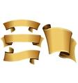 Gold ribbon set vector image vector image