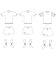 soccer player uniform vector image vector image