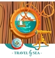 Sea Nautical Poster vector image