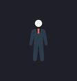 Businessman computer symbol vector image