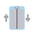 elevator service isolated icon vector image