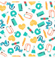 flat healthcare colorful seamless pattern vector image