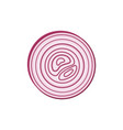 icon red onion sliced with rings design element vector image