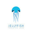 isolated abstract jellyfish on white background vector image