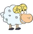Ram Cartoon Mascot Character vector image