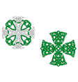 celtic crosses vector image