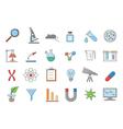 Laboratory icons set vector image
