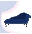 Blue vintage sofa vector image