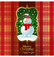 Vintage background with snowman vector image vector image