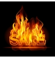 Hot sales billboard banner with glowing text in vector image
