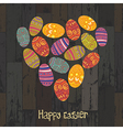 easter eggs heart shaped vector image vector image
