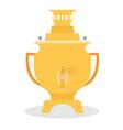 samovar icon - kettle tea time vector image