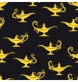 Black and yellow magic lamps pattern vector image
