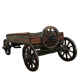 dray with wooden wheels vector image