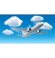 object airplane sky vector image