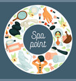 spa point commercial banner with skincare and vector image