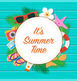 summer time background summer template vector image