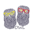 Two wise owls vector image