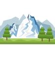 winter landscape mountains vector image
