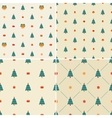 Christmas pattern seamless Merry card vector image