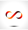 infinity symbol or logo design isolated on white b vector image vector image