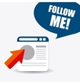 Follow me social and business theme design vector image