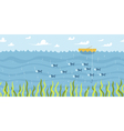 River fishing seamless background vector image vector image