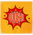 Cartoon blast OUCH vector image