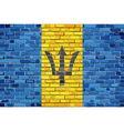 Flag of Barbados on a brick wall vector image