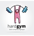 Abstract gym logotype isolated on white background vector image