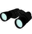 Black binocular vector image