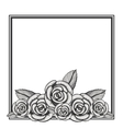 elegant frame with floral decoration vector image