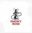 modern professional sign logo smory rose vector image
