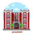 National military or science academy facade vector image
