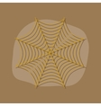 paper sticker on stylish background spider web vector image