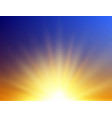 realistic sunrise background abstract summer vector image