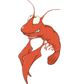 Red lobster vector image
