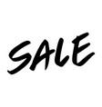sale text postcard hand lettering ink modern vector image