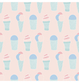 sweet ice cream pattern vector image